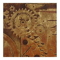 INK+IVY In Gear I Metallic Canvas Wall Art