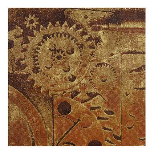 INK+IVY In Gear I Metallic Canvas Wall Art