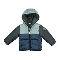 Boys 4-7 Carter's Heavyweight Colorblock Puffer Jacket