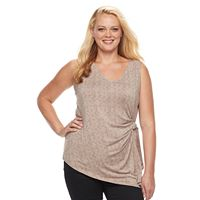 Plus Size Apt. 9® Buckle Pleated Tank