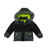 Boys 4-7 Carter's Faux-Fur Trim Heavyweight Colorblock Jacket