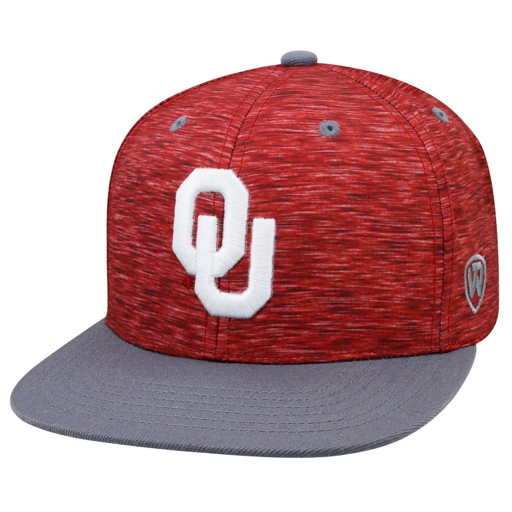 Adult Top of the World Oklahoma Sooners Energy Snapback Cap