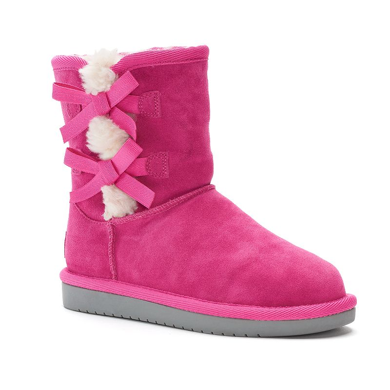 Koolaburra by UGG Victoria Girls' Short Winter Boots, Girl's, Size: 5, Dark Pink