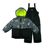 Boys 4-7 Carter's Digital Camouflage Colorblock Heavyweight Jacket & Bib Snowpants Snowsuit Set