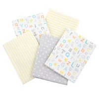 Gerber 5-pk. Patterned Flannel Receiving Blankets