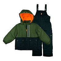 Boys 4-7 Carter's Colorblock Heavyweight Jacket & Bib Snowpants Snowsuit Set