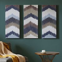 INK+IVY Alpine Chevron Canvas Wall Art 3-piece Set