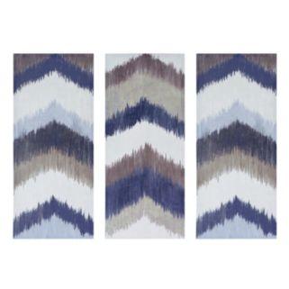 INK+IVY Alpine Chevron Canvas Wall Art 3-piece Set
