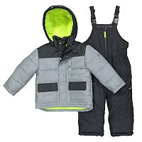 Boys 4-7 OshKosh B'gosh® Quilted Colorblocked Jacket & Bib Overall Snow Pants Set