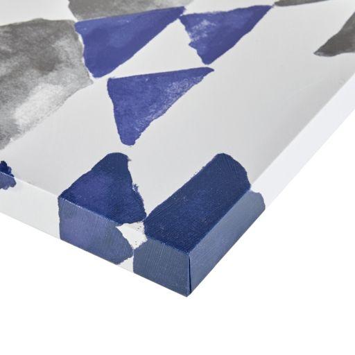 INK+IVY Navy Sierra Canvas Wall Art 3-piece Set