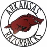 Arkansas Razorbacks 24-Inch Wrought Iron Wall Décor