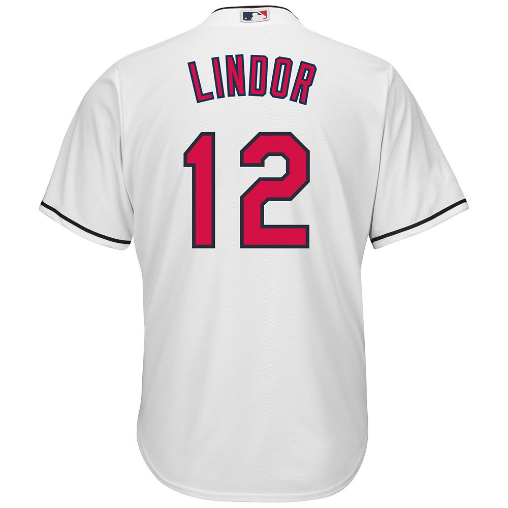 46baa843e Big   Tall Majestic Cleveland Indians Francisco Lindor Cool Base Replica  MLB Jersey