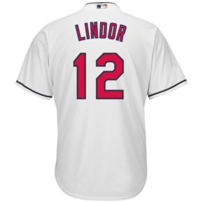 Big & Tall Majestic Cleveland Indians Francisco Lindor Cool Base Replica MLB Jersey