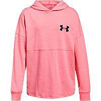 Girls 7-16 Under Armour Colorblock Wordmark Hooded Tee