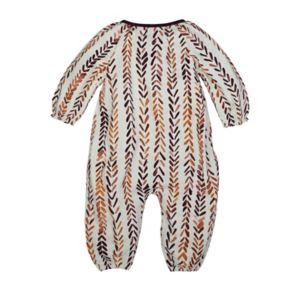 Baby Girl Burt's Bees Baby Organic Chevron Wrap Jumpsuit