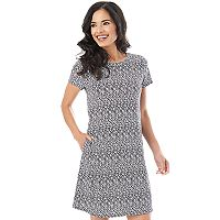 Women's Apt. 9 Printed Knit Dress