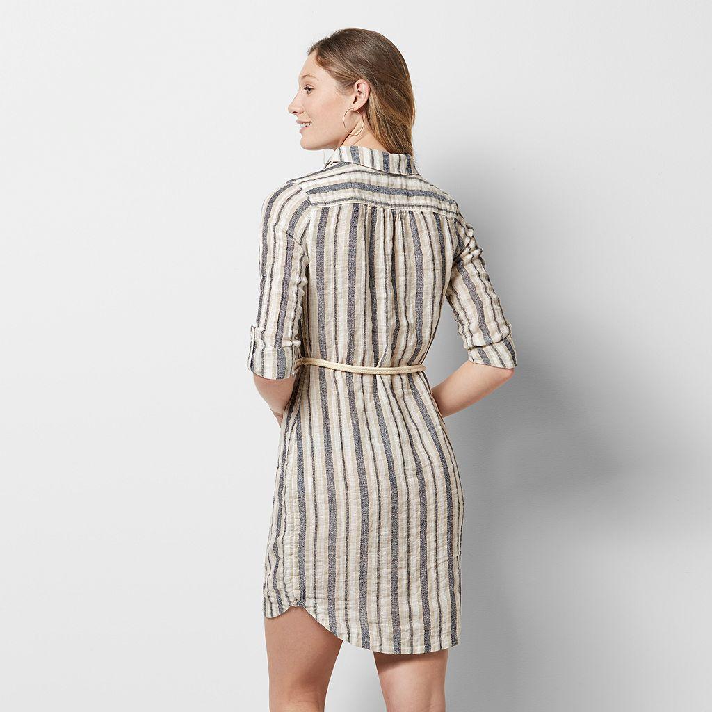 Petite SONOMA Goods for Life™ Linen-Blend Shirtdress