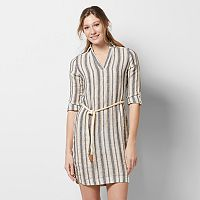 Petite SONOMA Goods for Life™ Linen-Blend Shirtdress
