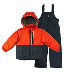 Baby Boy OshKosh B'gosh® Heavyweight Colorblocked Jacket & Bib Overall Snow Pants Set