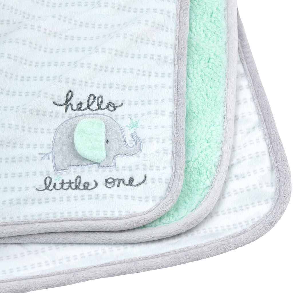 Gerber Reversible Patterned Applique Blanket