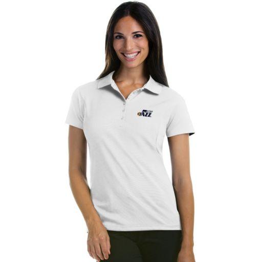 Women's Antigua Utah Jazz Pique Xtra-Lite Polo