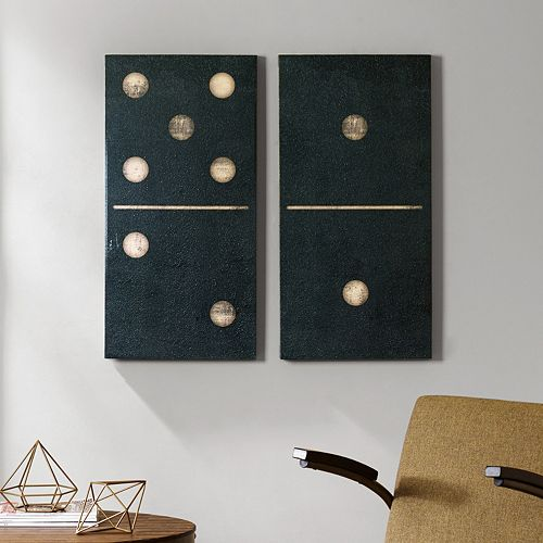 INK+IVY Two Black Dominos Canvas Wall Art 2-piece Set