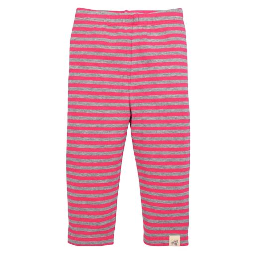 Baby Girl Burt's Bees Baby Organic Butterfly Tunic & Striped Pants Set