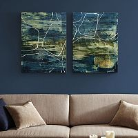 INK+IVY Cool Quarry Canvas Wall Art 2 pc Set
