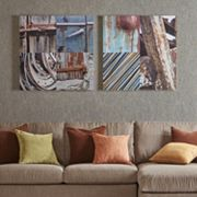 INK+IVY Weathered Objects Canvas Wall Art 2 pc Set