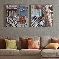 INK+IVY Weathered Objects Canvas Wall Art 2-piece Set