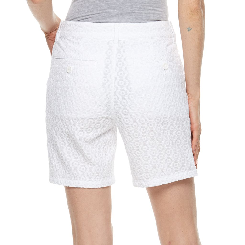 Women's Caribbean Joe Eyelet Shorts