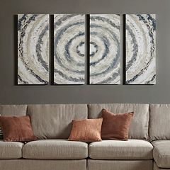 INK+IVY Gray Bon Bon Canvas Wall Art 4 pc Set