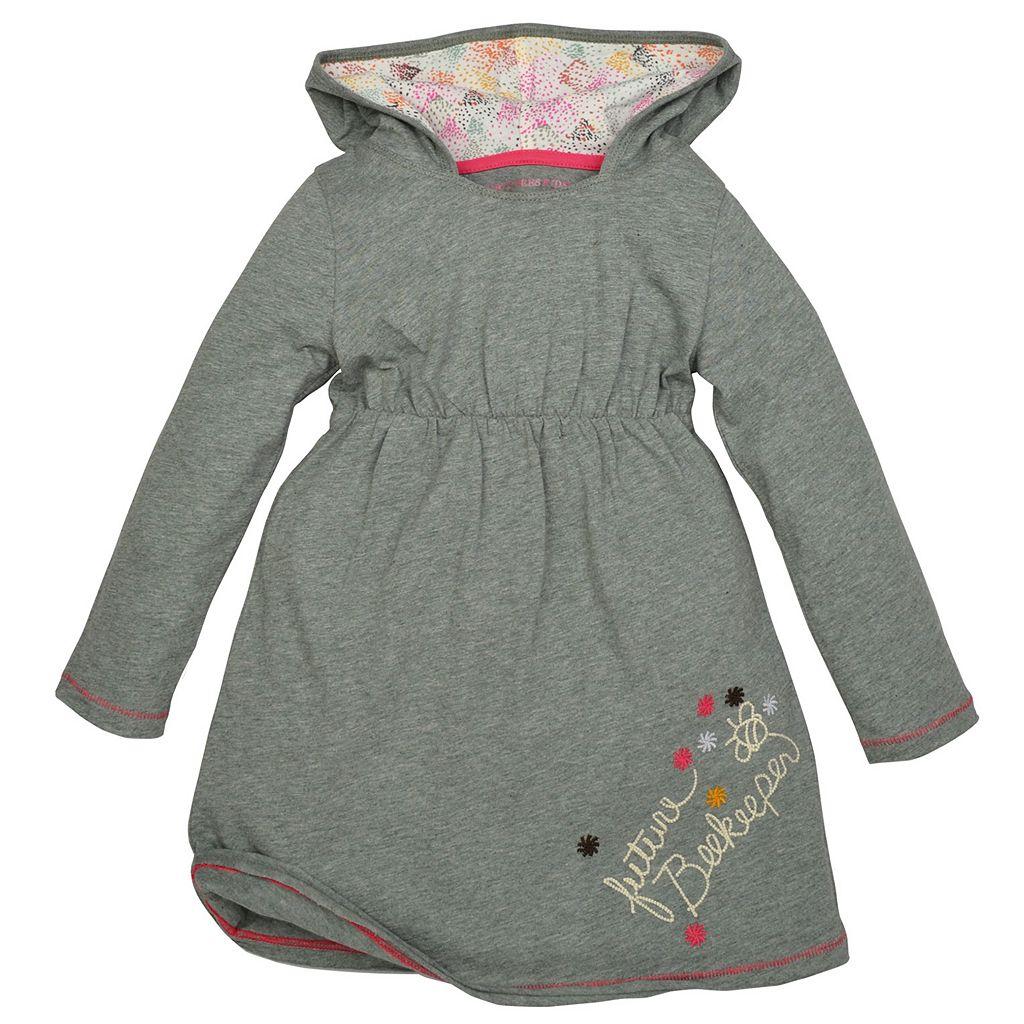 Baby Girl Burt's Bees Baby Hooded Dress & Speckled Leggings Set