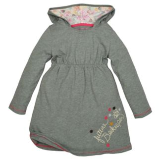 Baby Girl Burt's Bees Baby Hooded Dress & Speckled Leggings Set