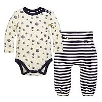 Baby Girl Burt's Bees Baby Organic Foraged Finds Bodysuit & Pants Set