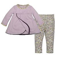 Baby Girl Burt's Bees Baby Organic Pointelle Dress & Leggings Set