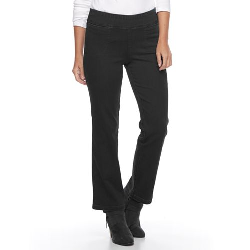 4b9ca2720c1 Petite Croft & Barrow® Pull-On Bootcut Jeans