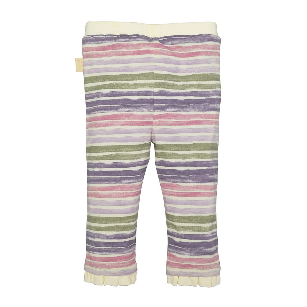 Baby Girl Burt's Bees Baby Organic Shirred Dress & Striped Pants Set