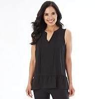 Women's Apt. 9® Pleated Ruffle Tank
