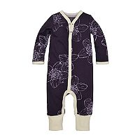 Baby Girl Burt's Bees Baby Organic Floral Convertible Coverall