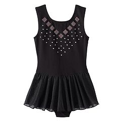 Girls 4-14 Jacques Moret Embellished Skirted Leotard