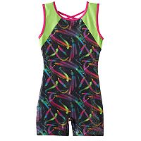 Girls 4-14 Jacques Moret Swirl Colorblock Biketard Leotard