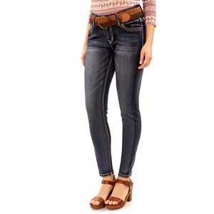Juniors' Wallflower Curvy Gray Skinny Jeans