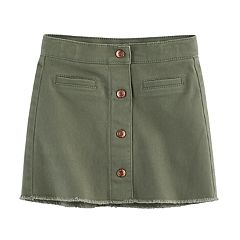 Girls 4-12 SONOMA Goods for Life™ Frayed-Hem Skort
