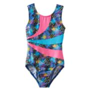 Girls 4-14 Jacques Moret Splatter Colorblock Leotard