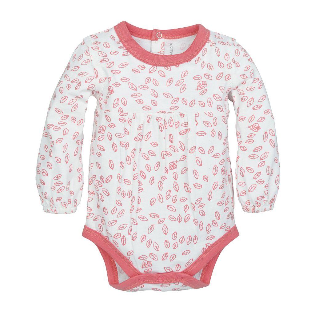 Baby Girl Burt's Bees Baby Organic Leaf Bodysuit & Pants Set