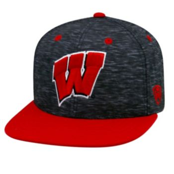 Youth Top of the World Wisconsin Badgers Energy Snapback Cap