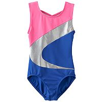 Girls 4-14 Jacques Moret Colorblock Foil Leotard