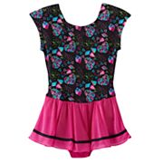 Girls 4-14 Jacques Moret Heart Skirted Leotard