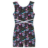 Girls 4-14 Jacques Moret Heart Embellished Biketard Leotard